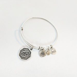 "Alex and Ani Initial ""C"" Silver Charm Bracelet"